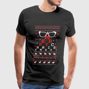 Glasses - Glasses - merry chistmas sweater - Men's Premium T-Shirt