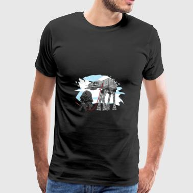 Darth Vader walking a Pesky AT - AT - Men's Premium T-Shirt