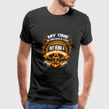 Coastie - My time in uniform is over - Men's Premium T-Shirt