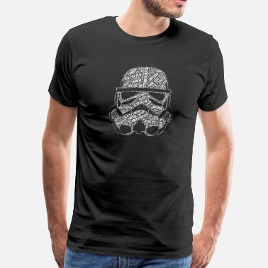 Derogatory stormtrooper - wordart w - Men's Premium T-Shirt