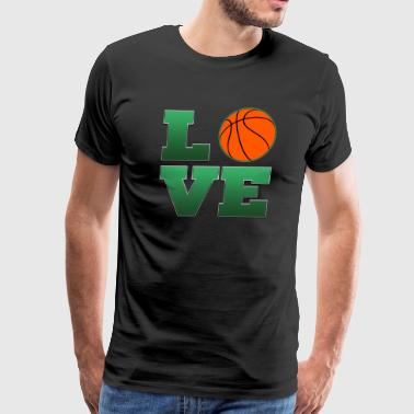 Love Boston Celtics Basketball  - Men's Premium T-Shirt