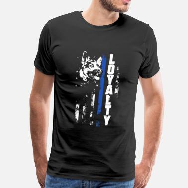 Thin Blue Line Canada Thin Blue Line Loyalty - Men's Premium T-Shirt