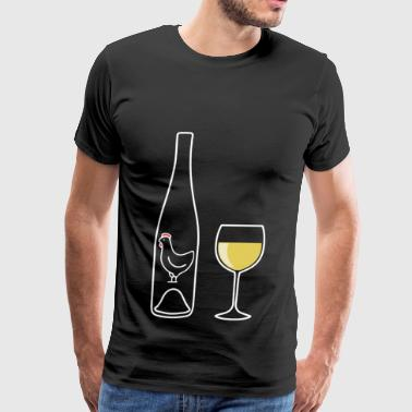 Wine Uncorked White - Men's Premium T-Shirt