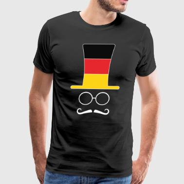 Flags Hipster German Flag Football hipster fan - Men's Premium T-Shirt