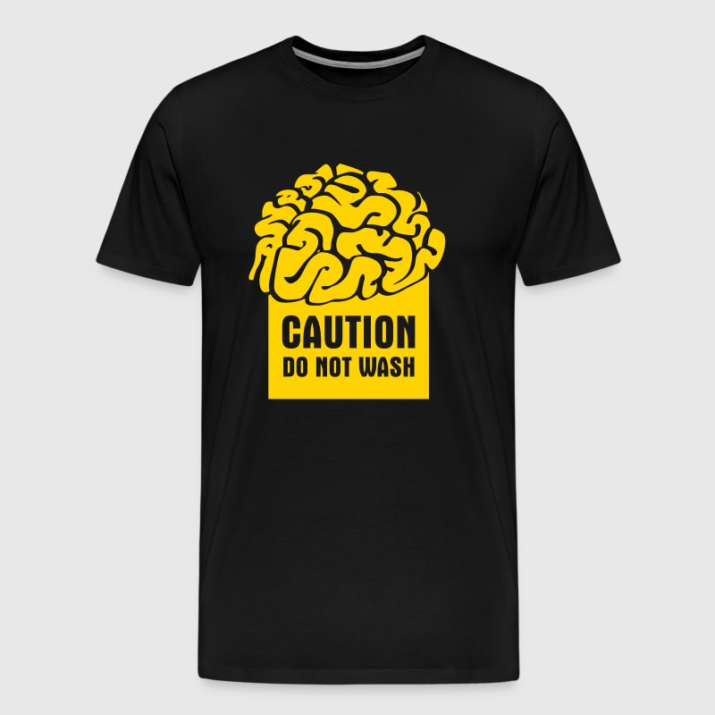 CAUTION: Do not wash (brain) - Men's Premium T-Shirt