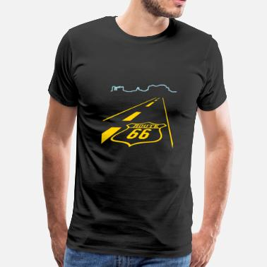 Route route 66 (2c) - Men's Premium T-Shirt