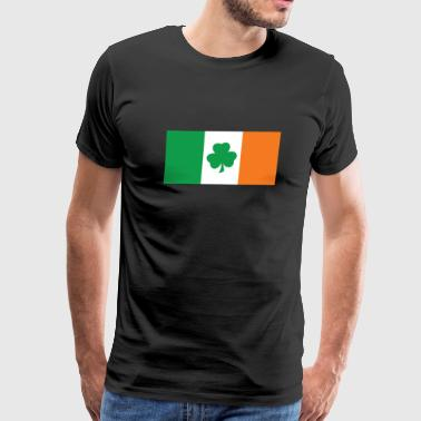 Irish Flag Shamrock Clover - Men's Premium T-Shirt