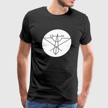 White Rusty Cage Avian Crux Logo - Men's Premium T-Shirt
