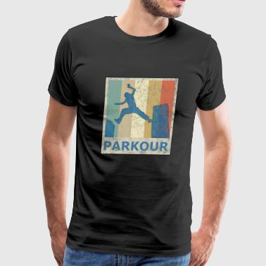 Vintage Retro Style Le Parkour Running Freerunning - Men's Premium T-Shirt