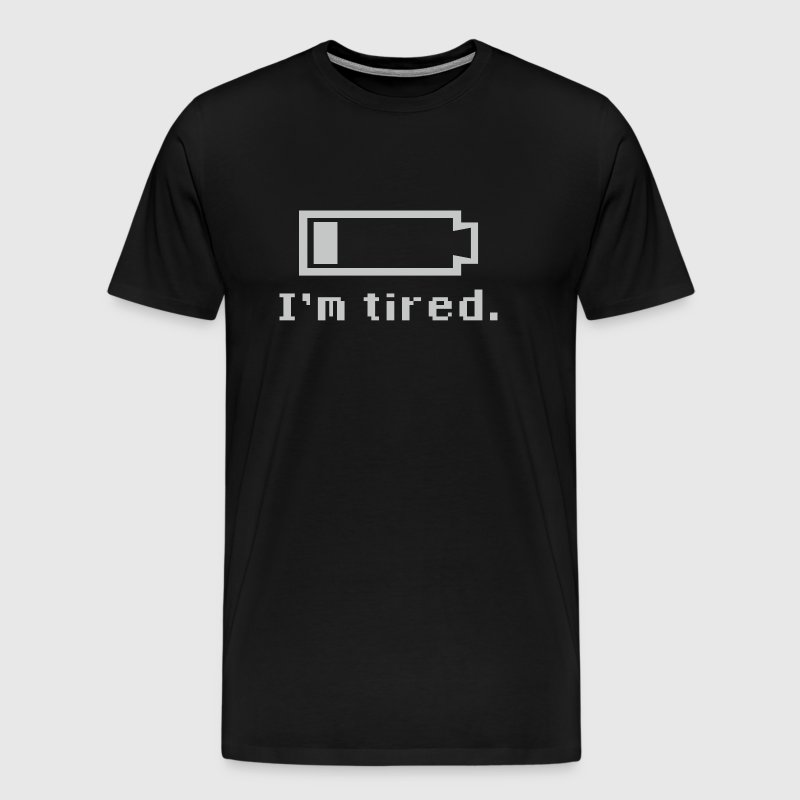 I'm Tired - Battery Bar - Men's Premium T-Shirt