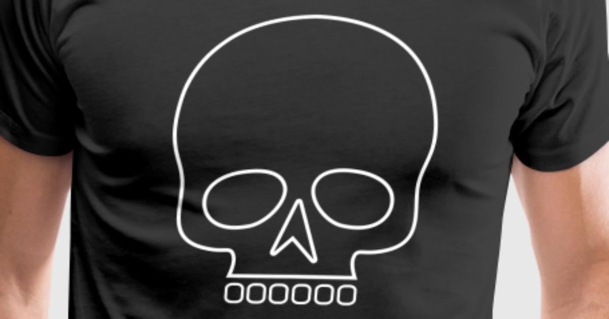 Skull outline by peterfotografik | Spreadshirt