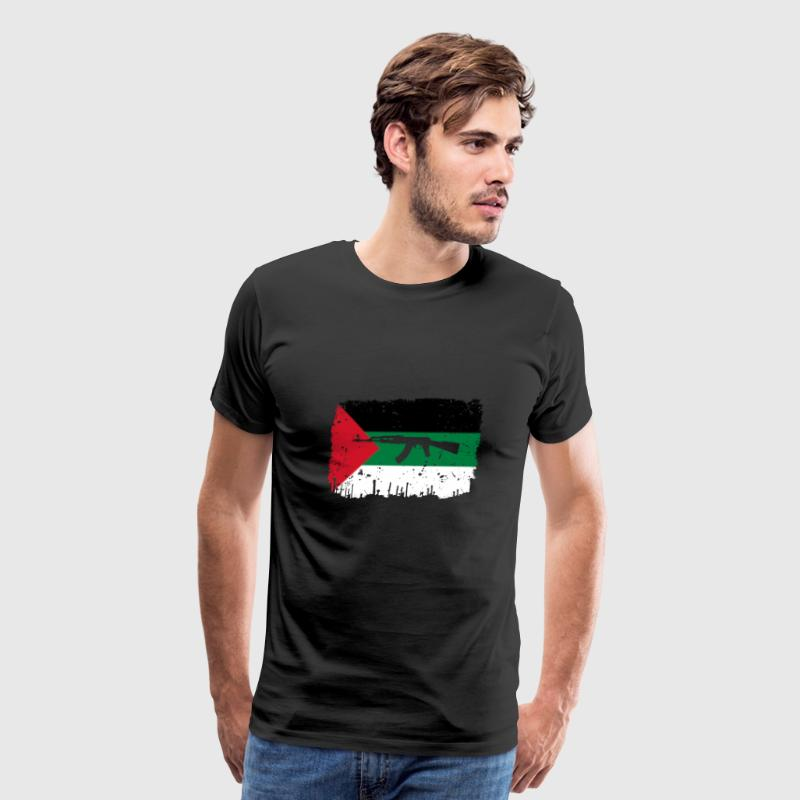 homeland fight ak 47 heimat roots palestine palaes - Men's Premium T-Shirt