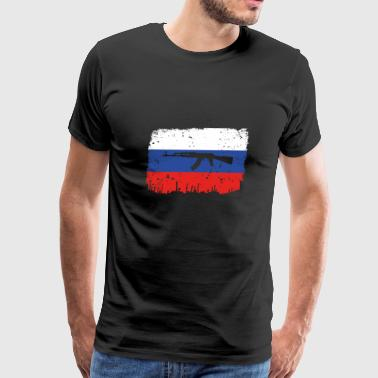 Russian Ak 47 homeland fight ak 47 heimat roots Russland png - Men's Premium T-Shirt