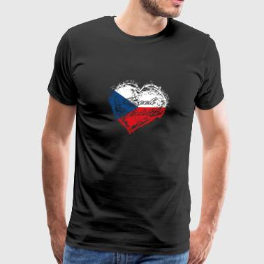 HOME ROOTS COUNTRY GIFT LOVE Czech republic - Men's Premium T-Shirt
