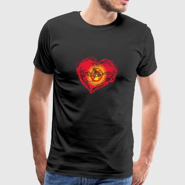 Kyrgyzstan HOME ROOTS COUNTRY GIFT LOVE Kyrgyzstan - Men's Premium T-Shirt