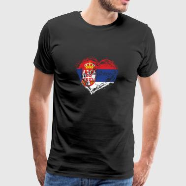 I Love Serbia HOME ROOTS COUNTRY GIFT LOVE Serbia - Men's Premium T-Shirt