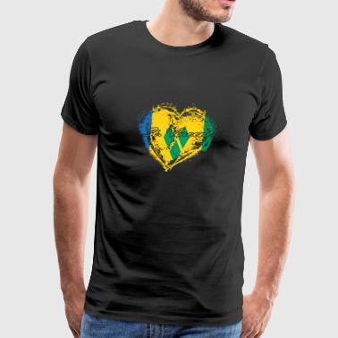 HOME ROOTS COUNTRY GIFT LOVE St Vincent - Men's Premium T-Shirt