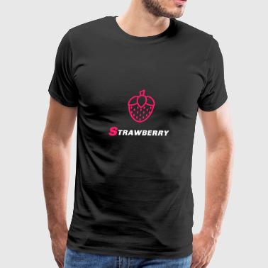 Fruits Strawberry Strawberry - Men's Premium T-Shirt