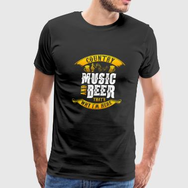 Country music and beer - festival - concert - Men's Premium T-Shirt