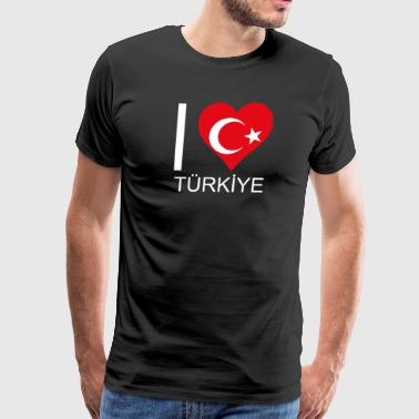 I love Turkey for sports and leisure - Men's Premium T-Shirt