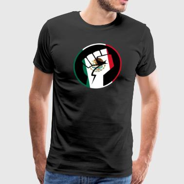 Mexico-Flag with fist motive! Present Idea - Men's Premium T-Shirt