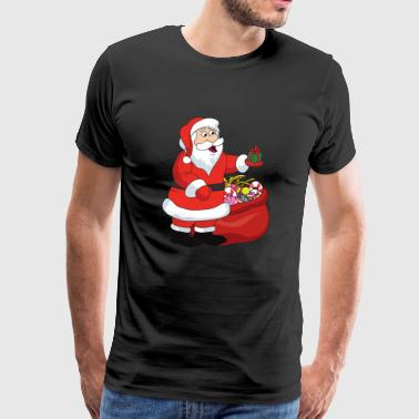 Funny Cool Cute Santa Claus Christmas Xmas - Men's Premium T-Shirt