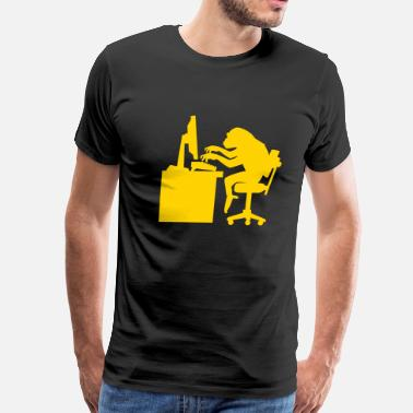Chimp Chimp pounding keyboard - Men's Premium T-Shirt