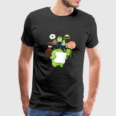 Android 11 Mascots for Android OS - Men's Premium T-Shirt