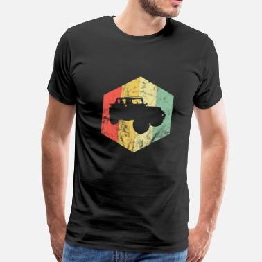 Wheels SUV Vintage Offroad 4x4 4WD Car Guy Gift Idea - Men's Premium T-Shirt