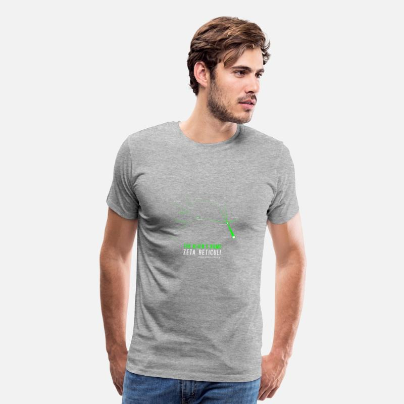 Aliens Home Zeta Reticuli Men's Premium T-Shirt - heather gray