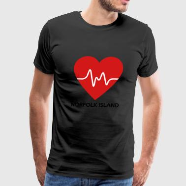 Heart Norfolk Island - Men's Premium T-Shirt
