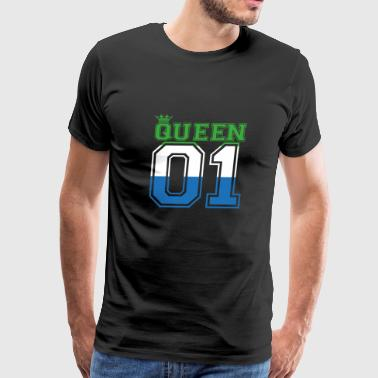 partner land queen 01 princess Sierra Leone - Men's Premium T-Shirt