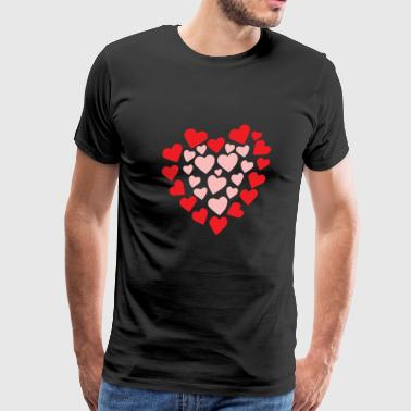 Hearts in a heart shape - Men's Premium T-Shirt
