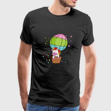 Unicorn Hot Air Balloon - Men's Premium T-Shirt