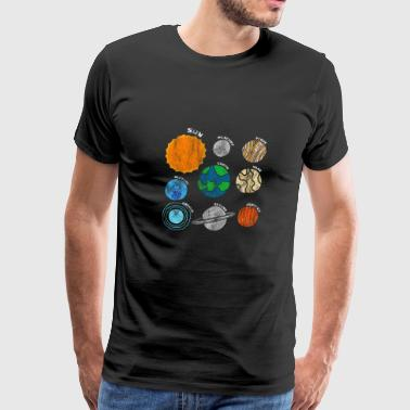 Planets Of Our Solar System Outer Space T-shirt - Men's Premium T-Shirt