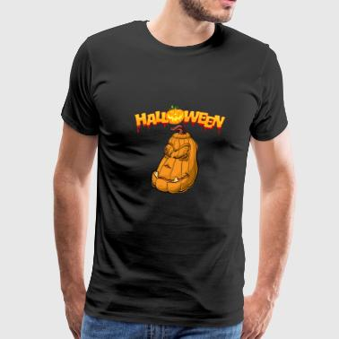 Happy Halloween - scary pumpkin smiling - Men's Premium T-Shirt