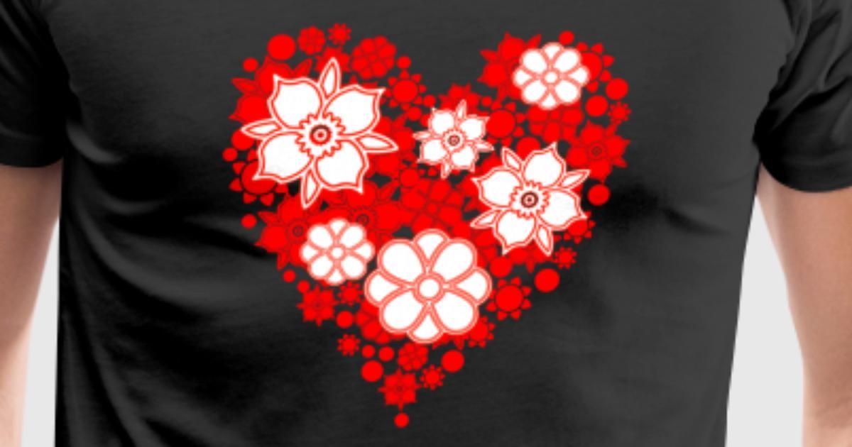 heart shaped flower bouquet by | Spreadshirt