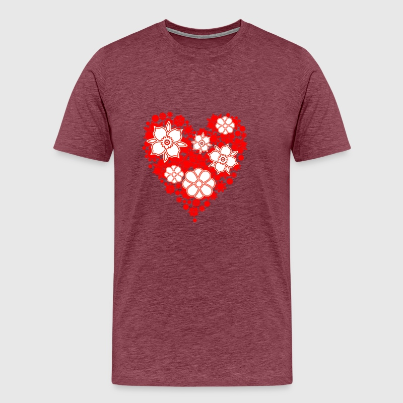heart shaped flower bouquet by | Spreadshirt