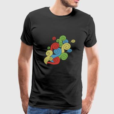 Bright Color Swirls - Men's Premium T-Shirt