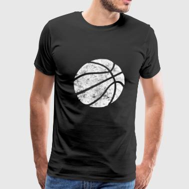 Basketball Vintage Look Retro - Men's Premium T-Shirt