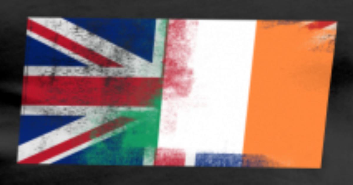 British Irish Half Ireland Half Uk Flag By Wiqmerch