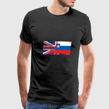 British Slovenian Half Slovenia Half UK Flag - Men's Premium T-Shirt
