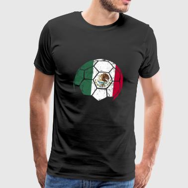 Mexico Soccer Football Ball - Men's Premium T-Shirt