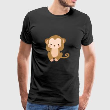 Hear No Evil Cute Kawaii Monkey Hear No Evil - Men's Premium T-Shirt