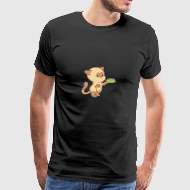 Cute Begging Cat Tshirt - Men's Premium T-Shirt