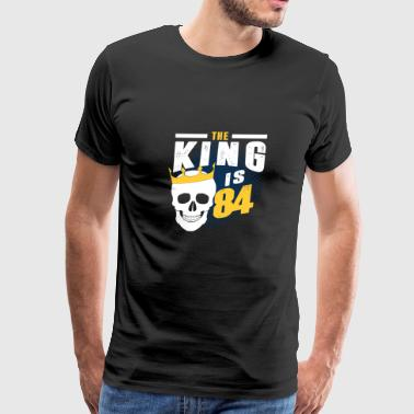 Number 84 the king is 84 - Men's Premium T-Shirt