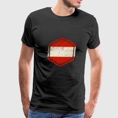 HEXAGON AUSTRIA GRUNGE - Men's Premium T-Shirt