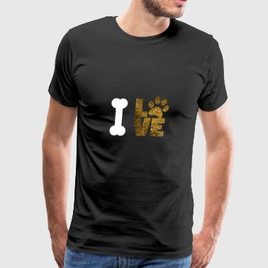 I love dog - Men's Premium T-Shirt