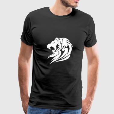 Lion Tribal (White) - Men's Premium T-Shirt