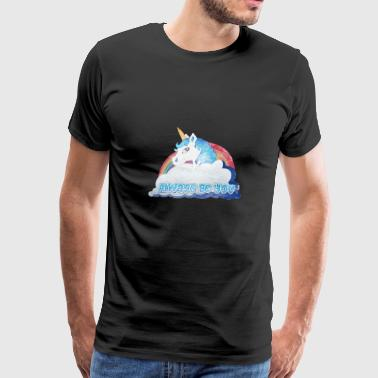 Central Intelligence Unicorn Faded as worn - Men's Premium T-Shirt